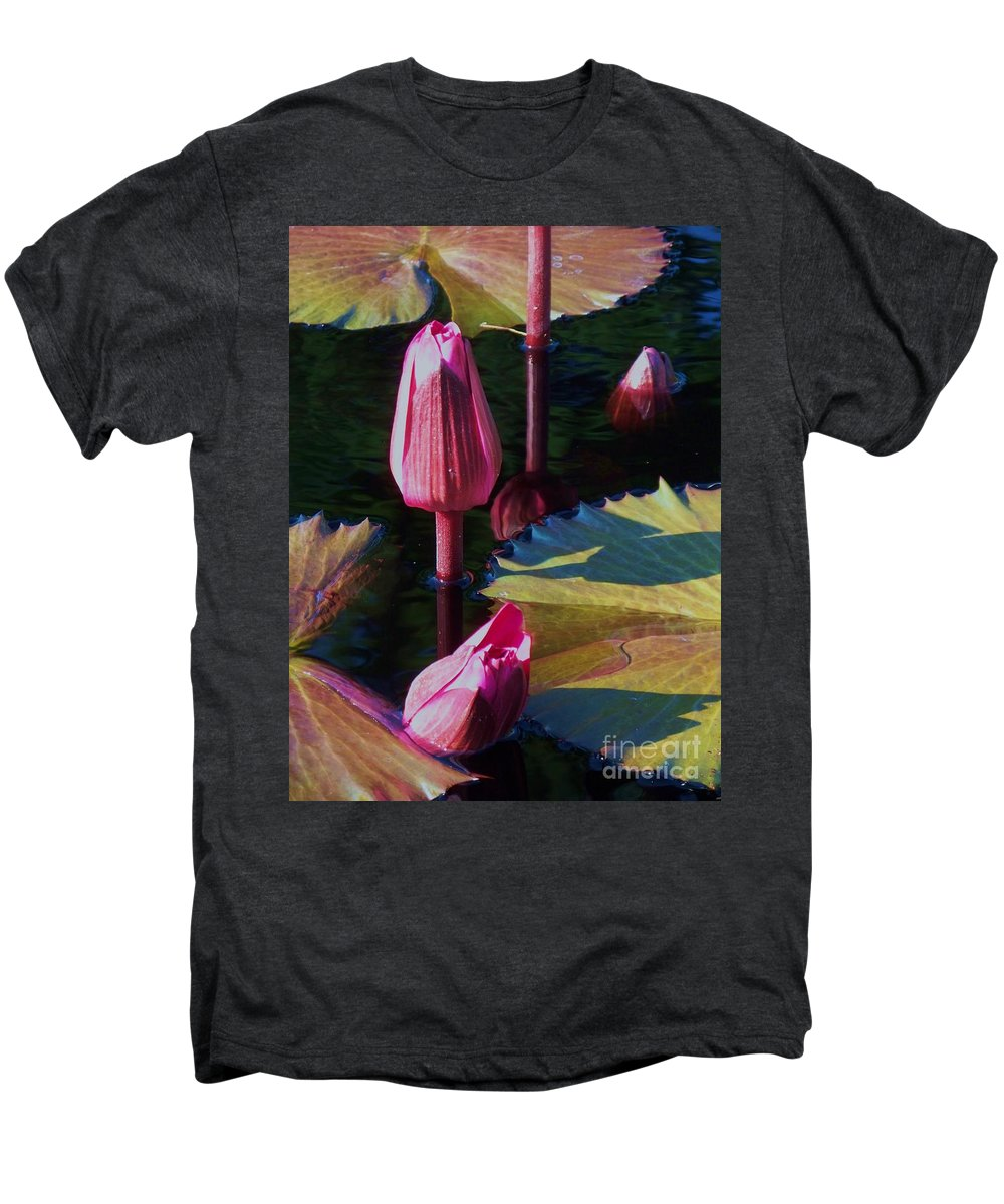 Photograph Men's Premium T-Shirt featuring the photograph Magenta Lily Pads by Eric Schiabor