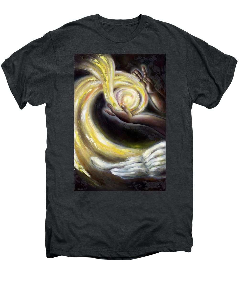 Angel Men's Premium T-Shirt featuring the painting Magic by Hiroko Sakai