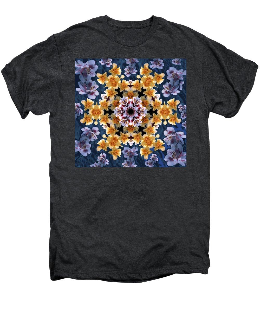 Mandala Men's Premium T-Shirt featuring the digital art Mandala Alstro by Nancy Griswold
