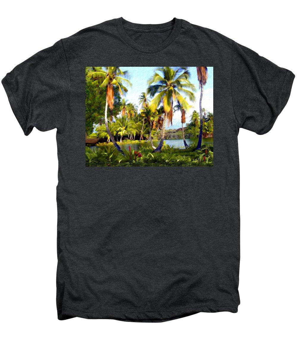 Hawaii Men's Premium T-Shirt featuring the photograph Mauna Lani Fish Ponds by Kurt Van Wagner