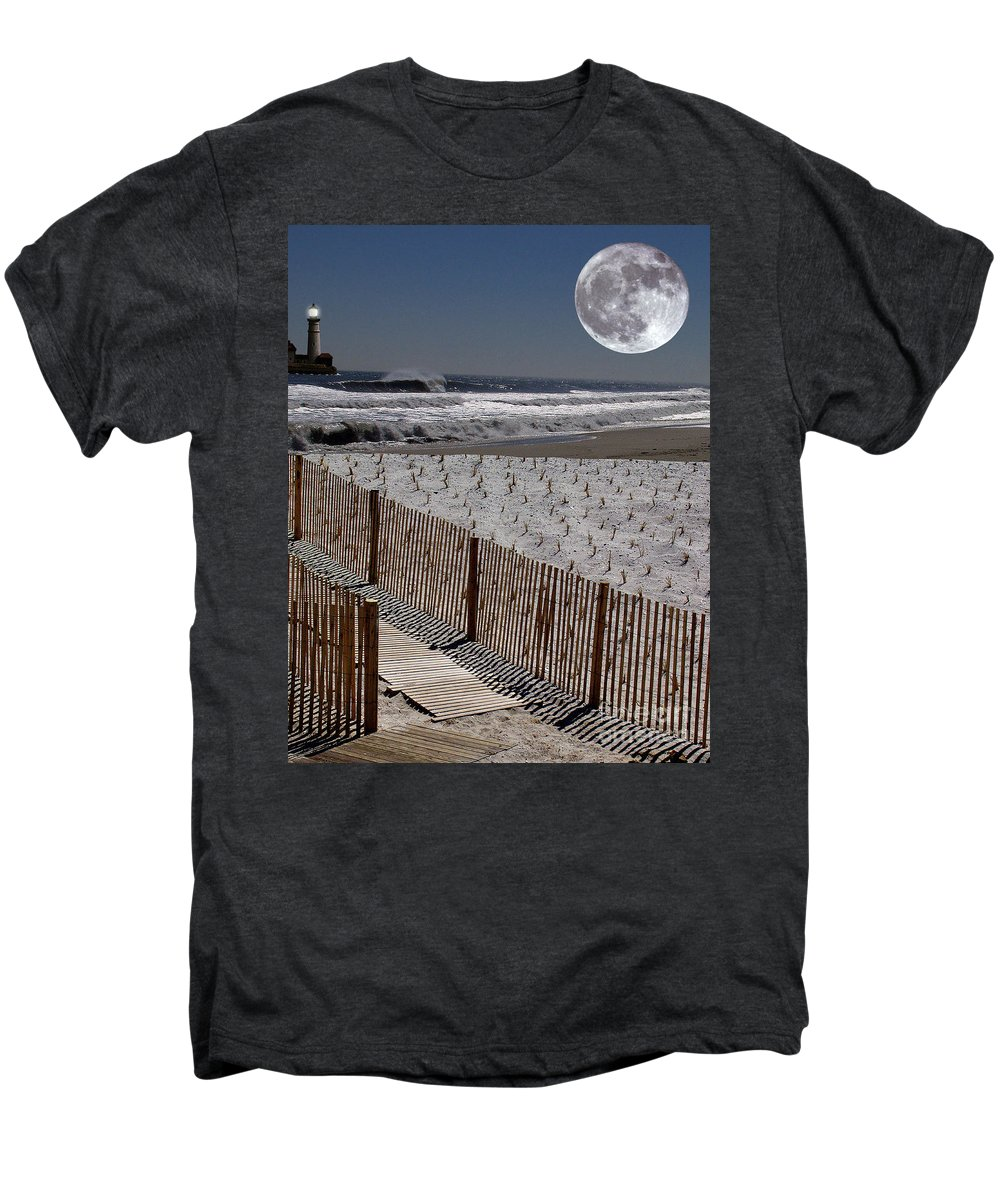Water Men's Premium T-Shirt featuring the digital art Moon Bay by Keith Dillon