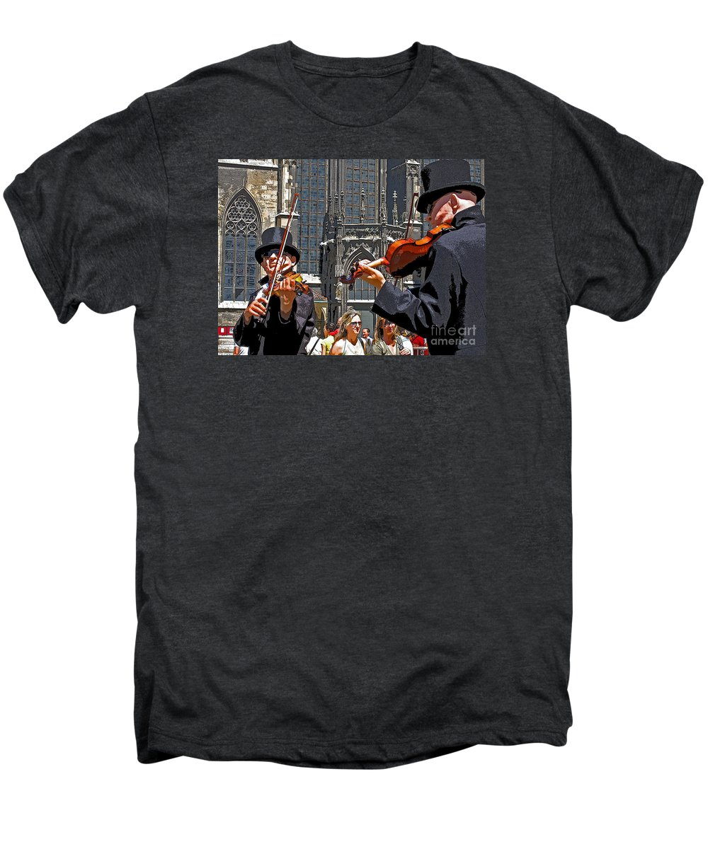 Buskers Men's Premium T-Shirt featuring the photograph Mozart In Masquerade by Ann Horn