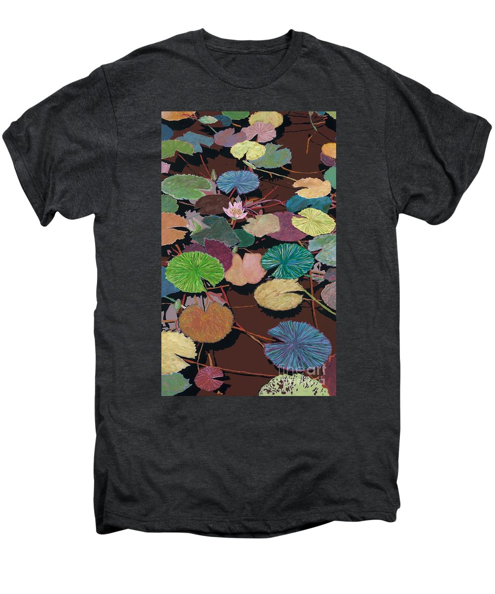 Landscape Men's Premium T-Shirt featuring the painting Muddy Waters by Allan P Friedlander