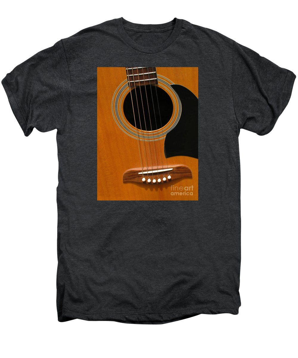 Guitar Men's Premium T-Shirt featuring the photograph Musical Abstraction by Ann Horn
