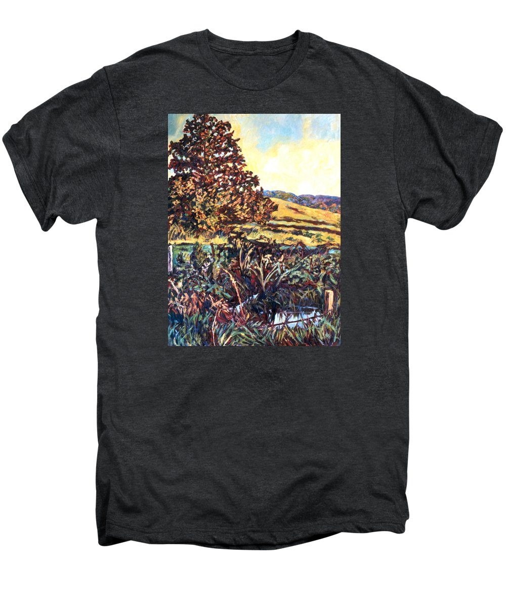 Landscape Men's Premium T-Shirt featuring the painting Near Childress by Kendall Kessler