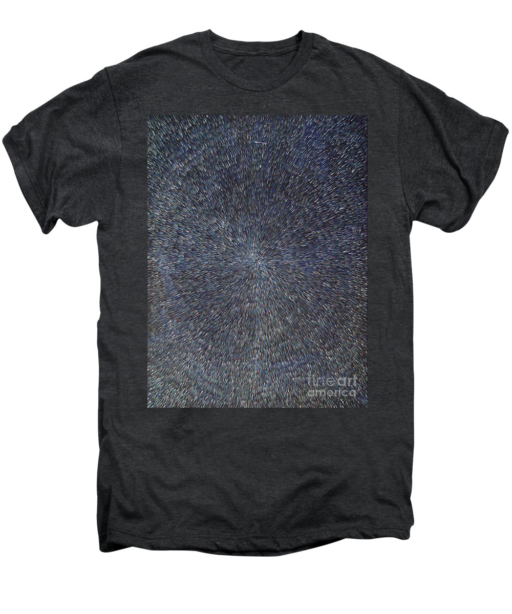 Abstract Men's Premium T-Shirt featuring the painting Night Radiation by Dean Triolo