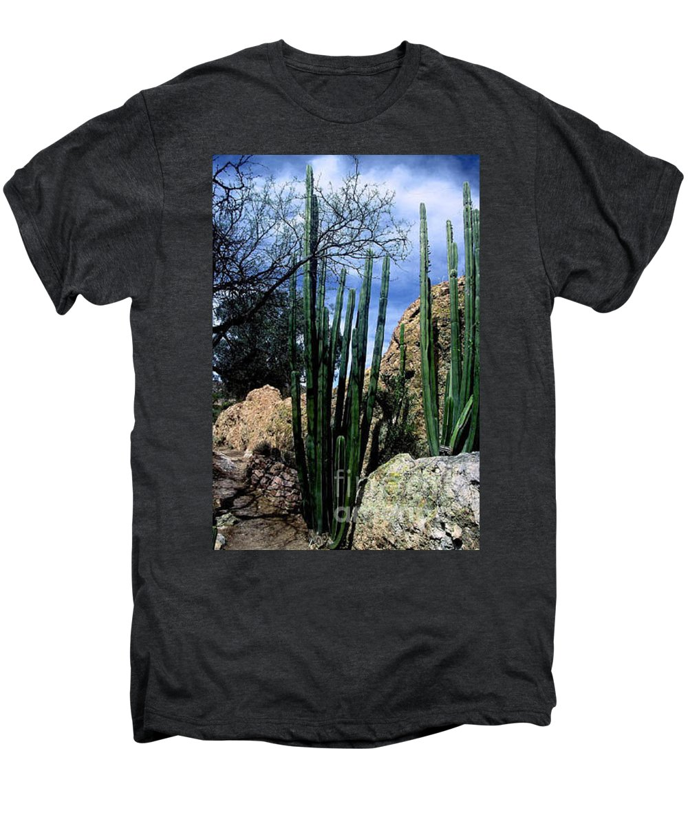 Cactus Men's Premium T-Shirt featuring the photograph Organ Pipe by Kathy McClure