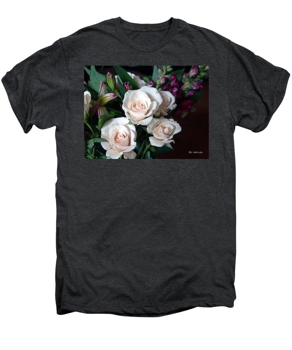 Flowers Men's Premium T-Shirt featuring the photograph Pardon My Blush by RC deWinter