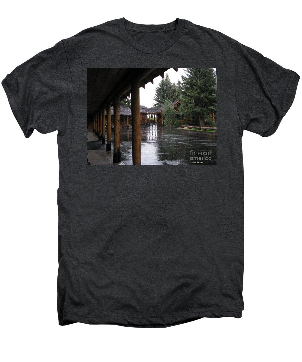 Patzer Men's Premium T-Shirt featuring the photograph Parking Lot by Greg Patzer