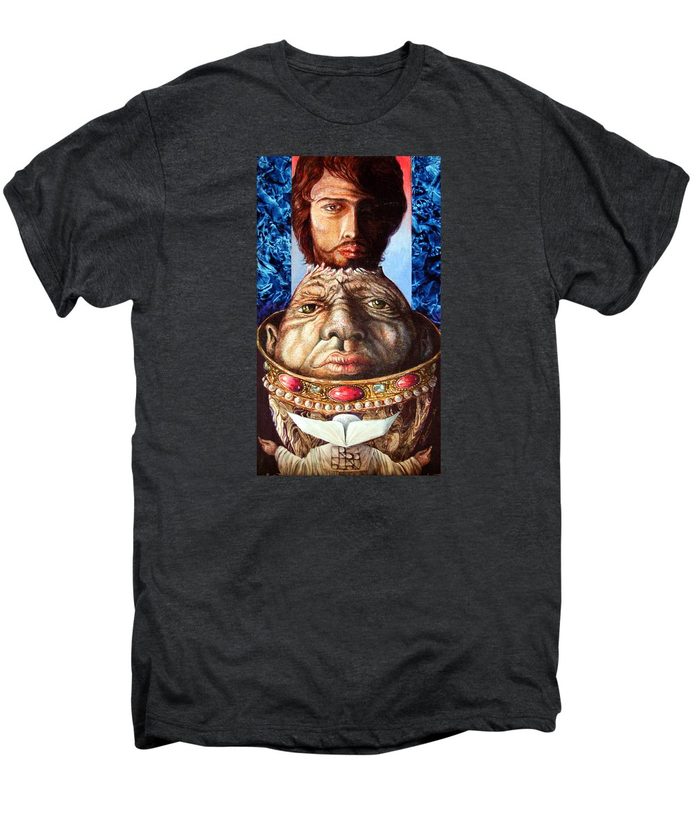Surrealism Men's Premium T-Shirt featuring the painting Parthenogenesis II by Otto Rapp