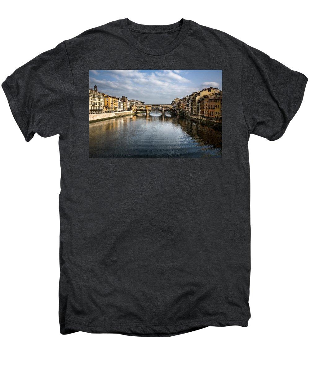 Italy Men's Premium T-Shirt featuring the photograph Ponte Vecchio by Dave Bowman