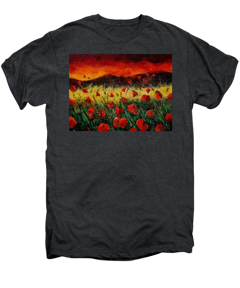 Poppies Men's Premium T-Shirt featuring the painting Poppies 68 by Pol Ledent