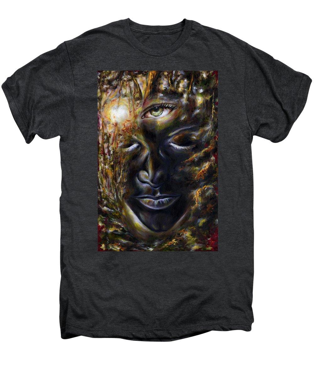 Eye Men's Premium T-Shirt featuring the painting Revelation by Hiroko Sakai
