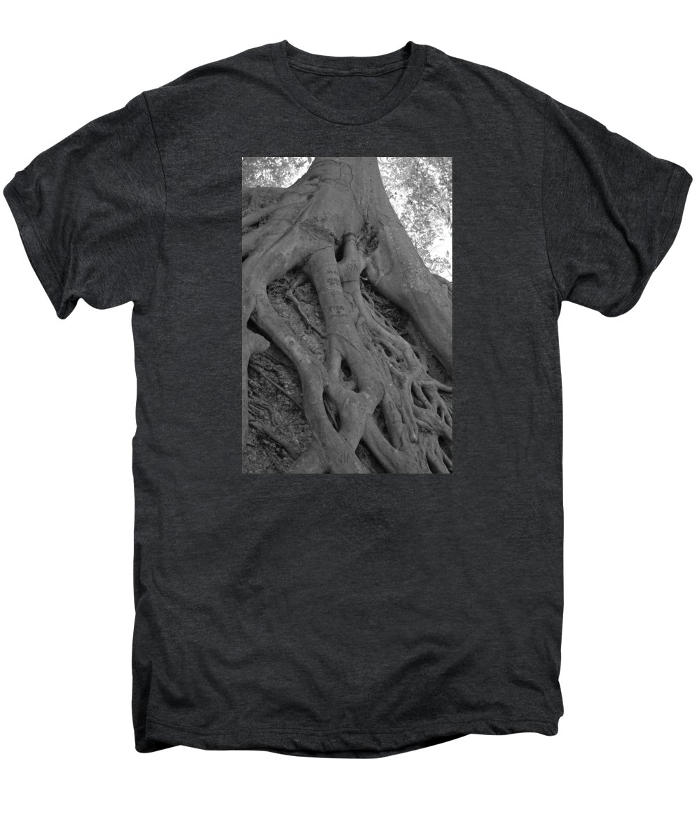 Tree Men's Premium T-Shirt featuring the photograph Roots II by Suzanne Gaff