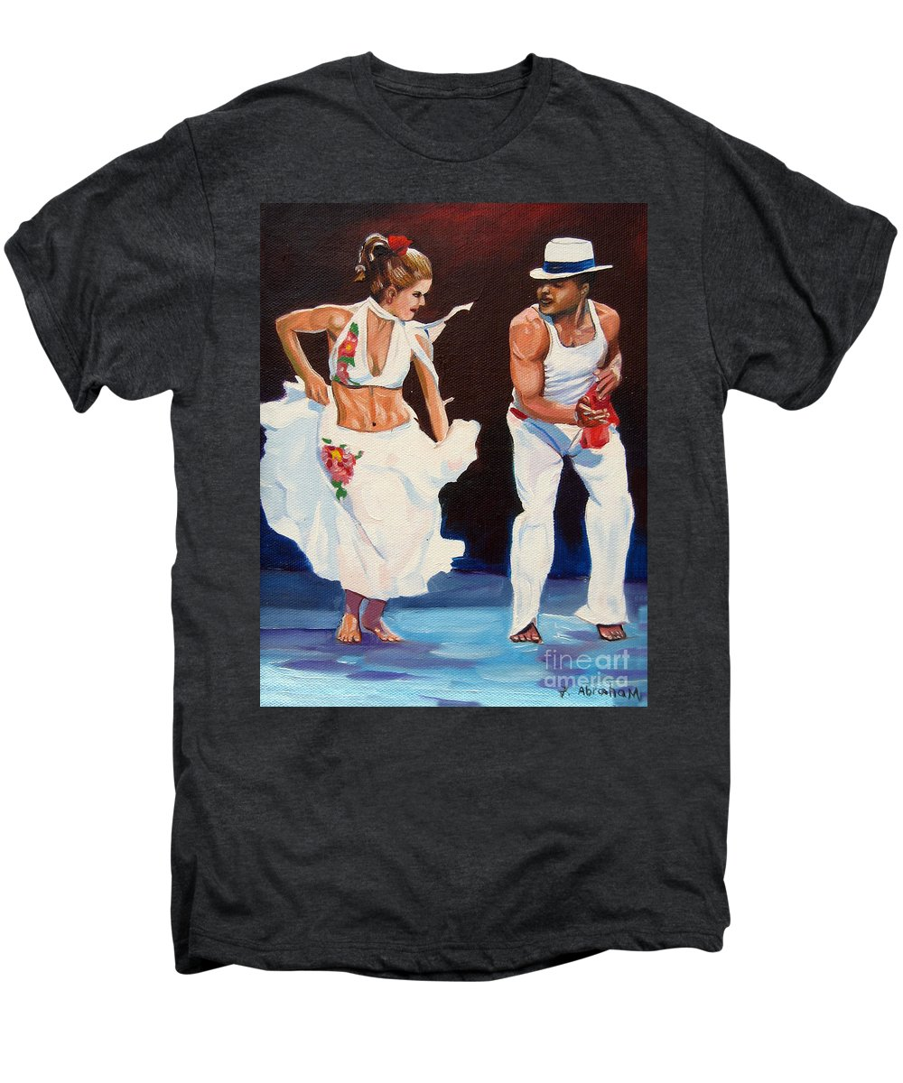 Dancing Men's Premium T-Shirt featuring the painting Salsa by Jose Manuel Abraham