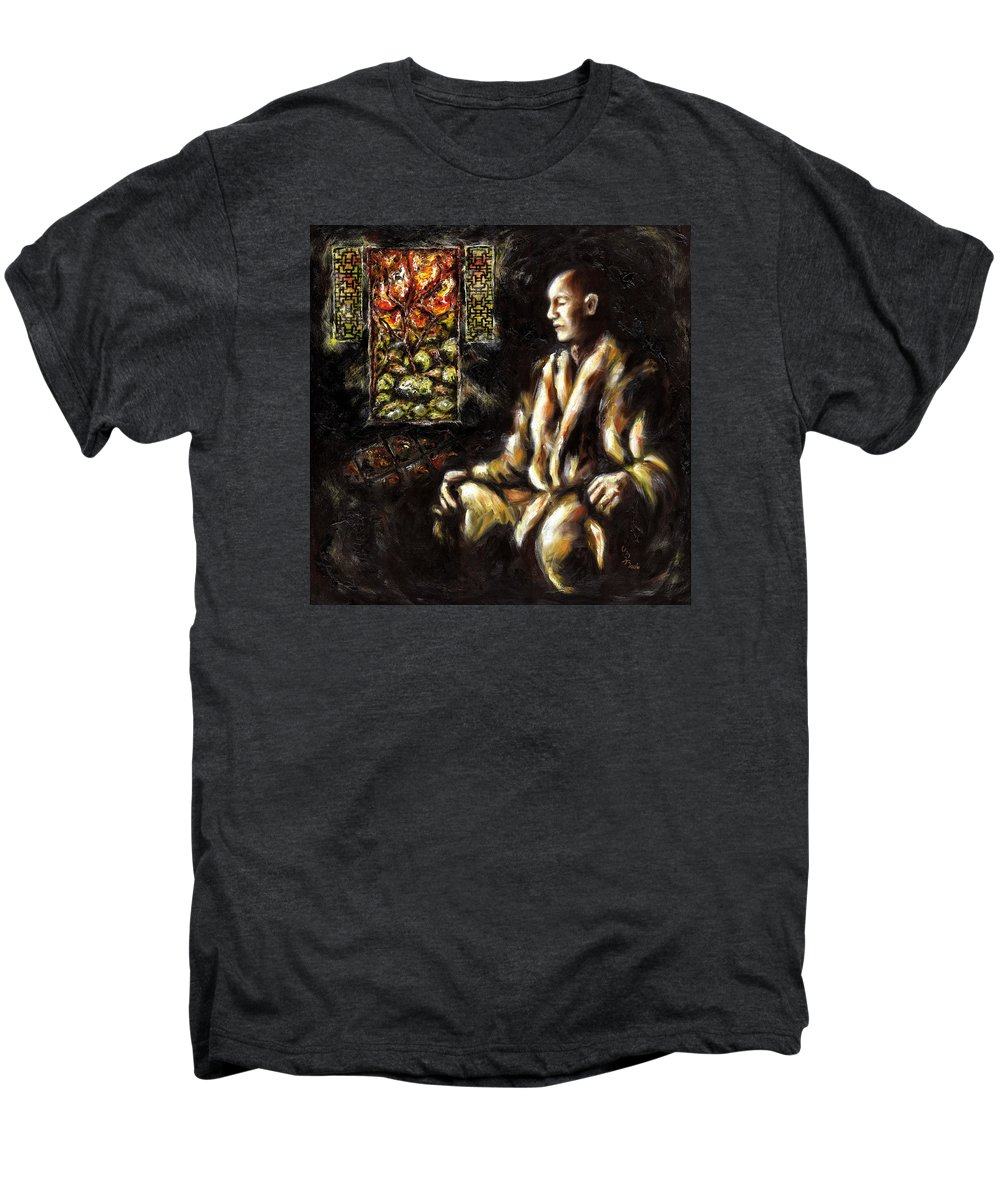 Zen Men's Premium T-Shirt featuring the painting Silence by Hiroko Sakai