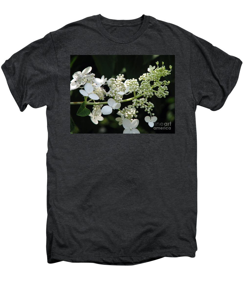 Hydrangea Men's Premium T-Shirt featuring the photograph Simply by Amanda Barcon