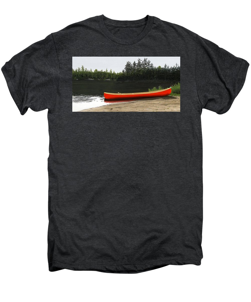 Llandscapes Men's Premium T-Shirt featuring the painting Solemnly by Kenneth M Kirsch