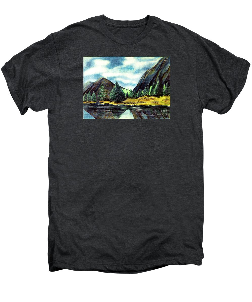 Fine Art Men's Premium T-Shirt featuring the painting Solitude by Patricia Griffin Brett