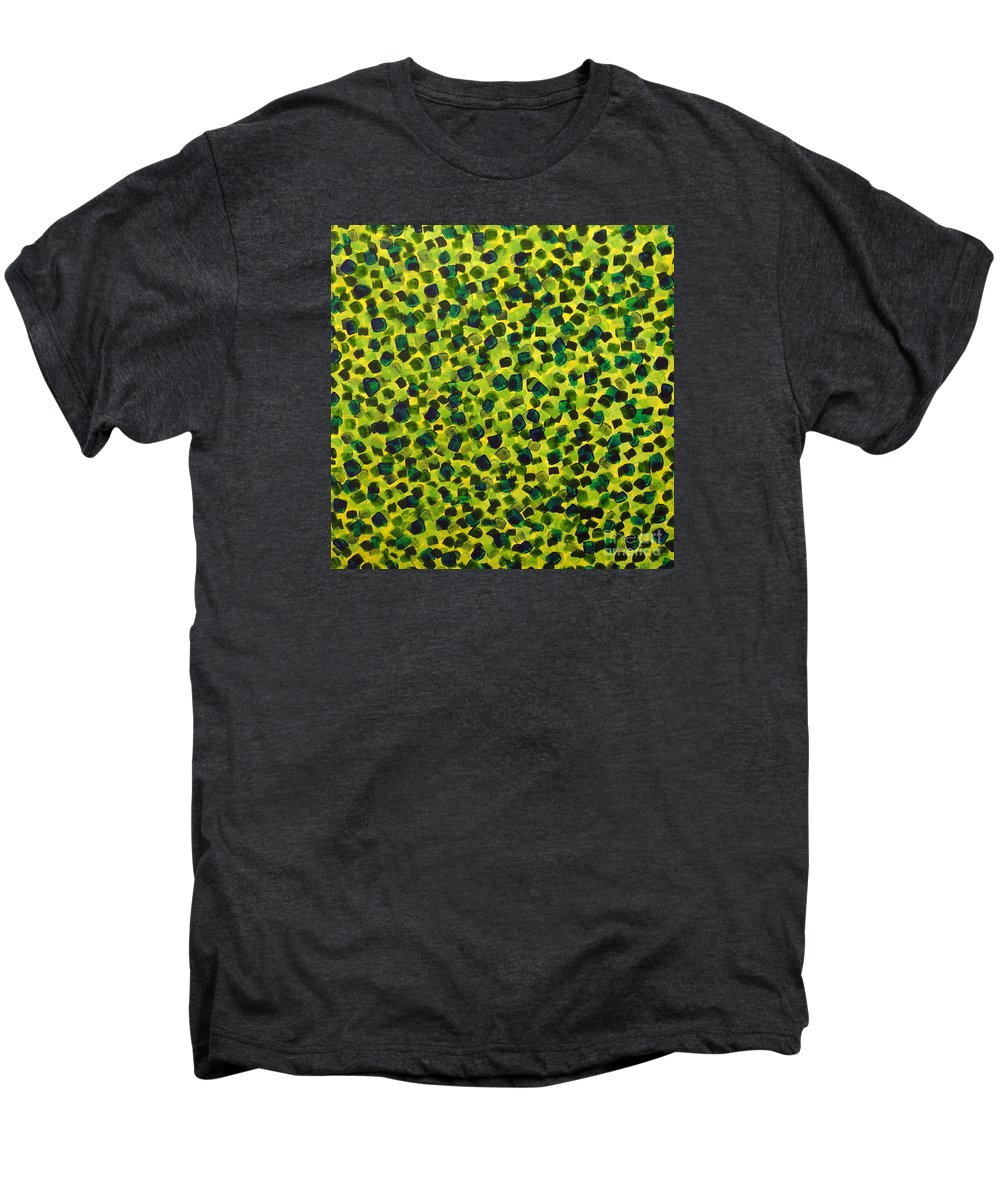 Abstract Men's Premium T-Shirt featuring the painting Sunlight Through The Trees 2 by Dean Triolo