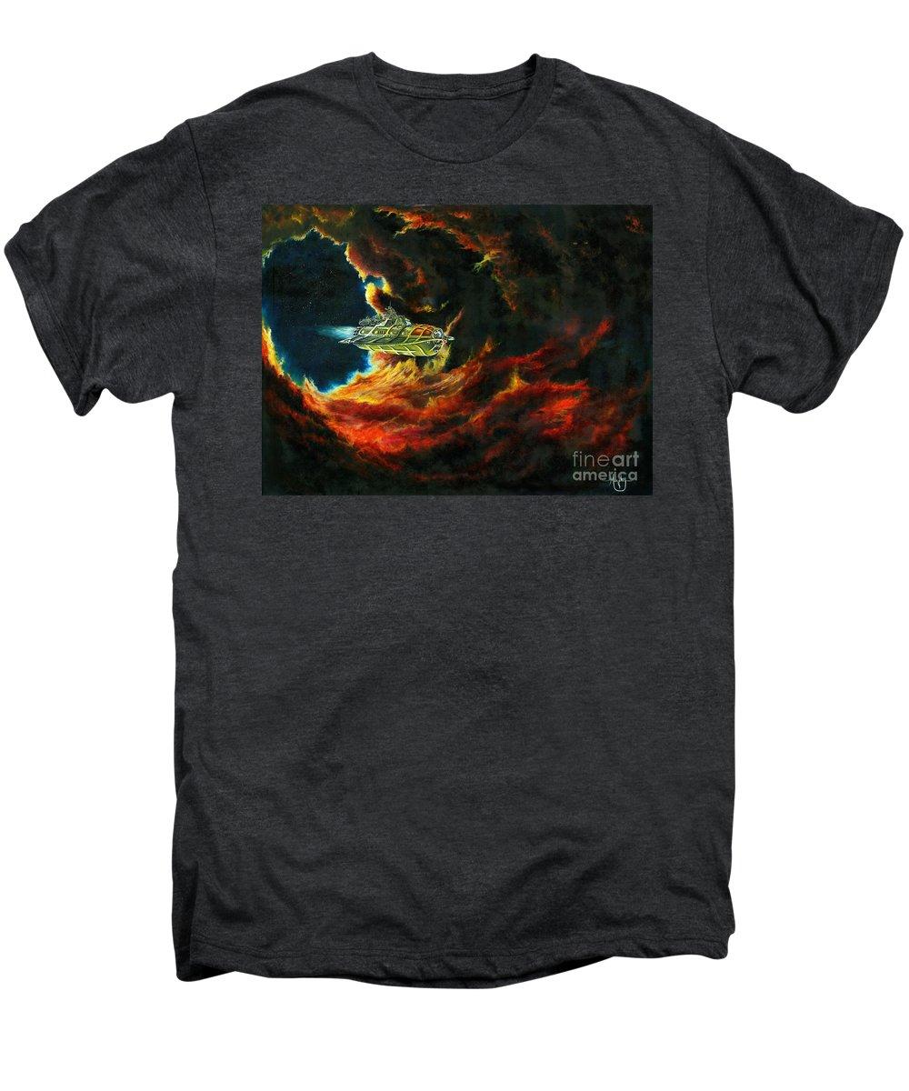 Devil Men's Premium T-Shirt featuring the painting The Devil's Lair by Murphy Elliott