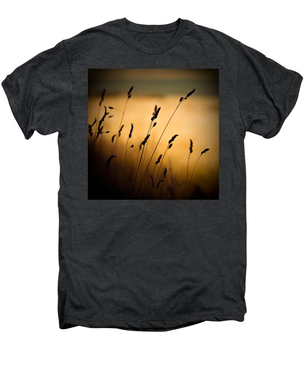 Filed At Sunset Men's Premium T-Shirt featuring the photograph The Field by Dave Bowman