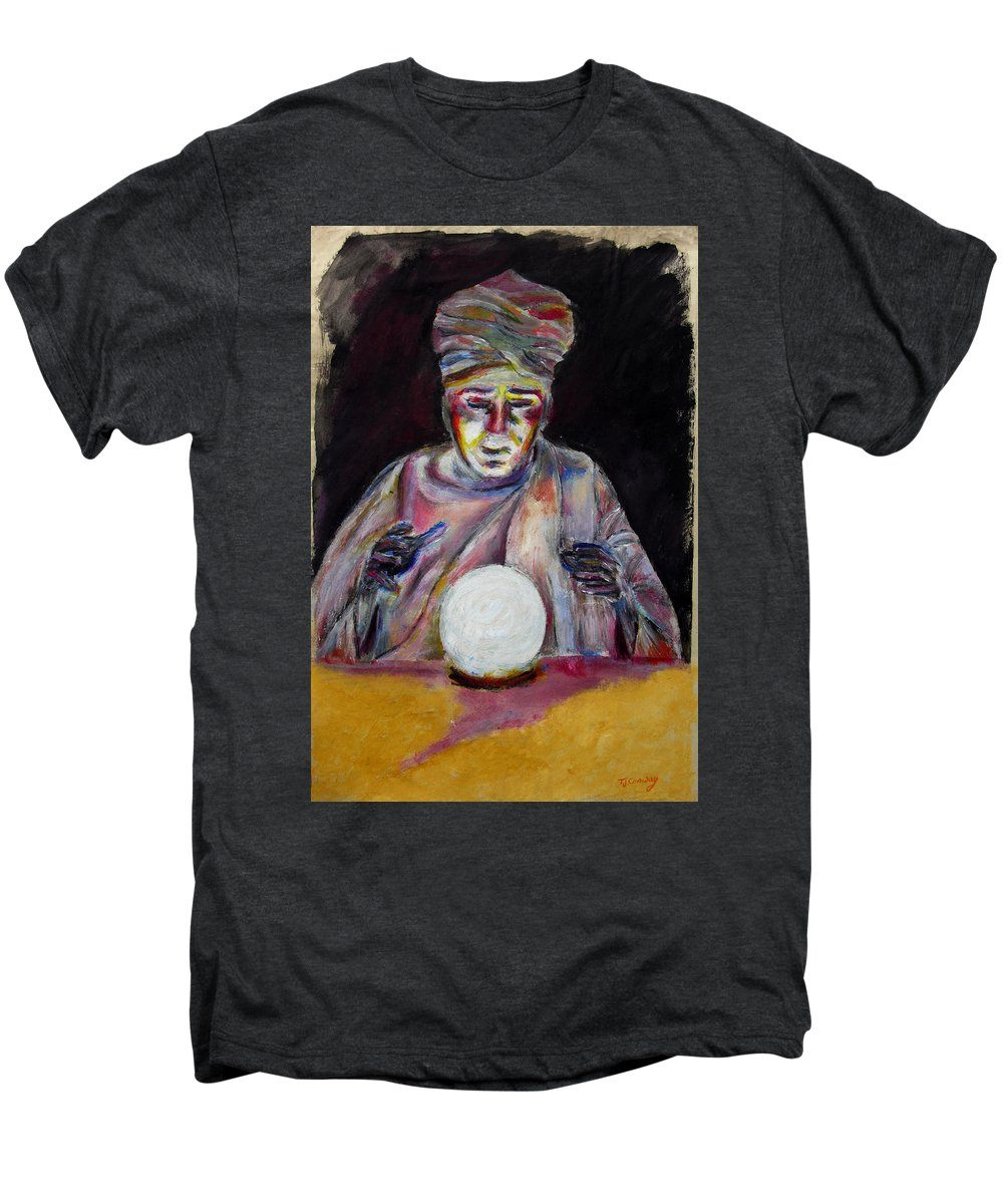Fortune Tellers Men's Premium T-Shirt featuring the painting The Fortune Teller by Tom Conway