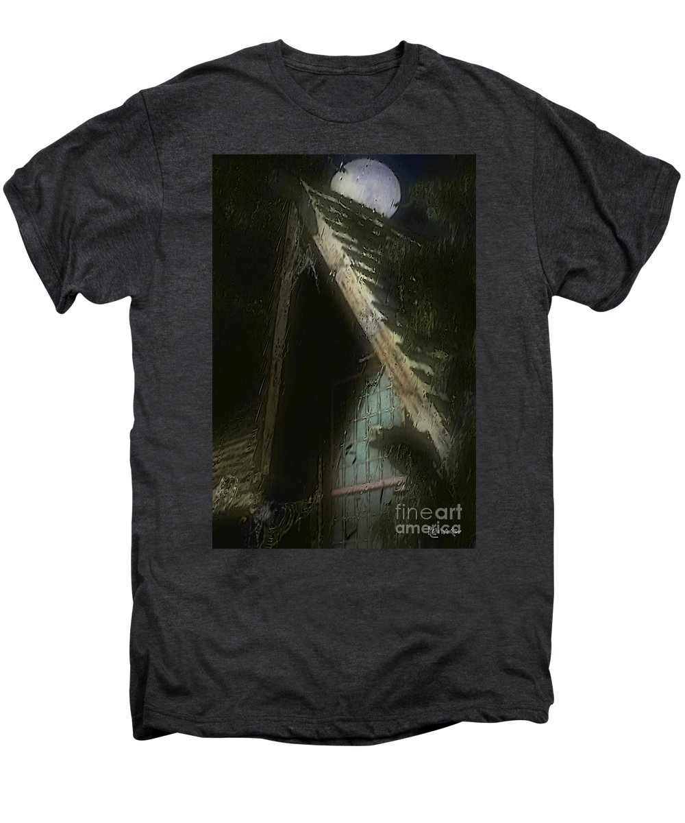 House Men's Premium T-Shirt featuring the painting The Haunted Gable by RC DeWinter
