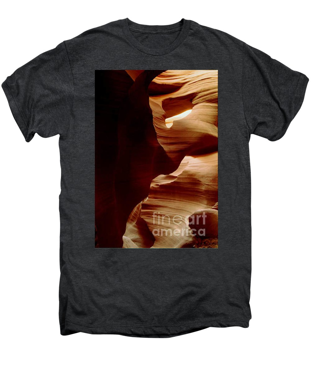 Landscape Men's Premium T-Shirt featuring the photograph The Heart Of Antelope Canyon by Kathy McClure