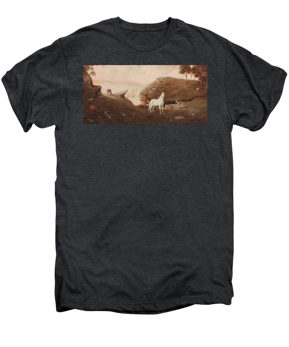 Horse Men's Premium T-Shirt featuring the painting The Patriarch by Duane R Probus