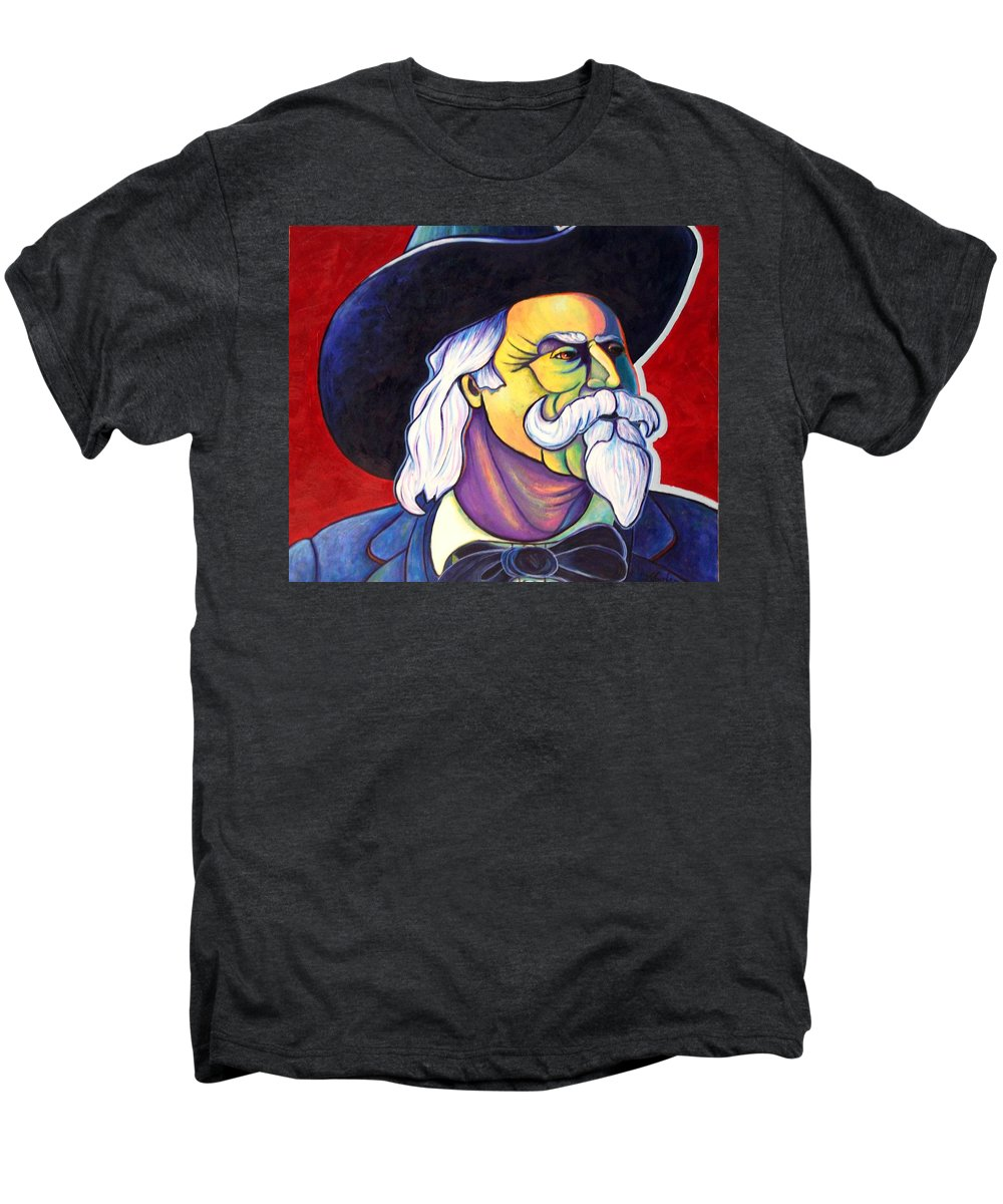 Western Hero Men's Premium T-Shirt featuring the painting The Plainsmen - Buffalo Bill Cody by Joe Triano