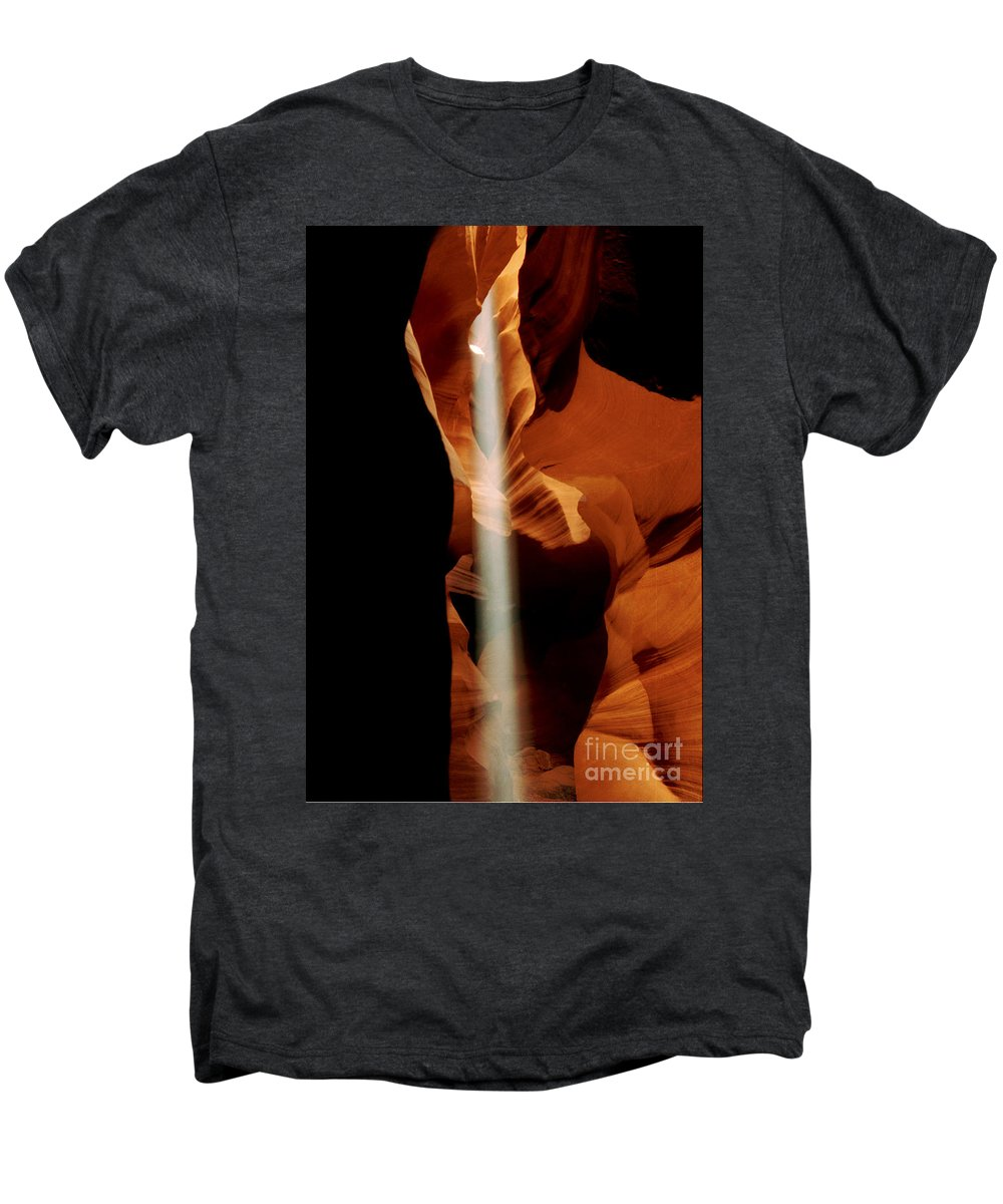 Antelope Canyon Men's Premium T-Shirt featuring the photograph The Source by Kathy McClure
