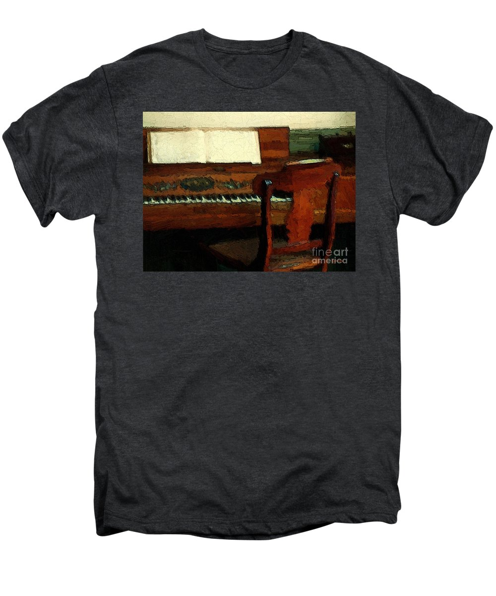 Colonial Men's Premium T-Shirt featuring the painting The Square Piano by RC DeWinter