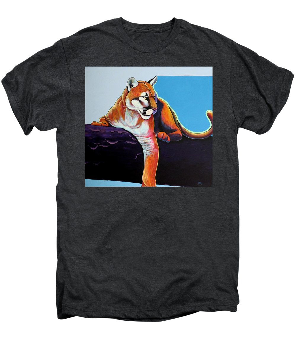 Wildlife Men's Premium T-Shirt featuring the painting The Toll Collector by Joe Triano