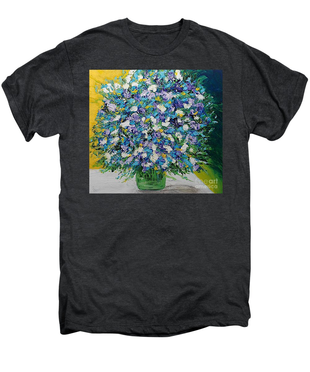 Landscape Men's Premium T-Shirt featuring the painting To Have And Delight by Allan P Friedlander