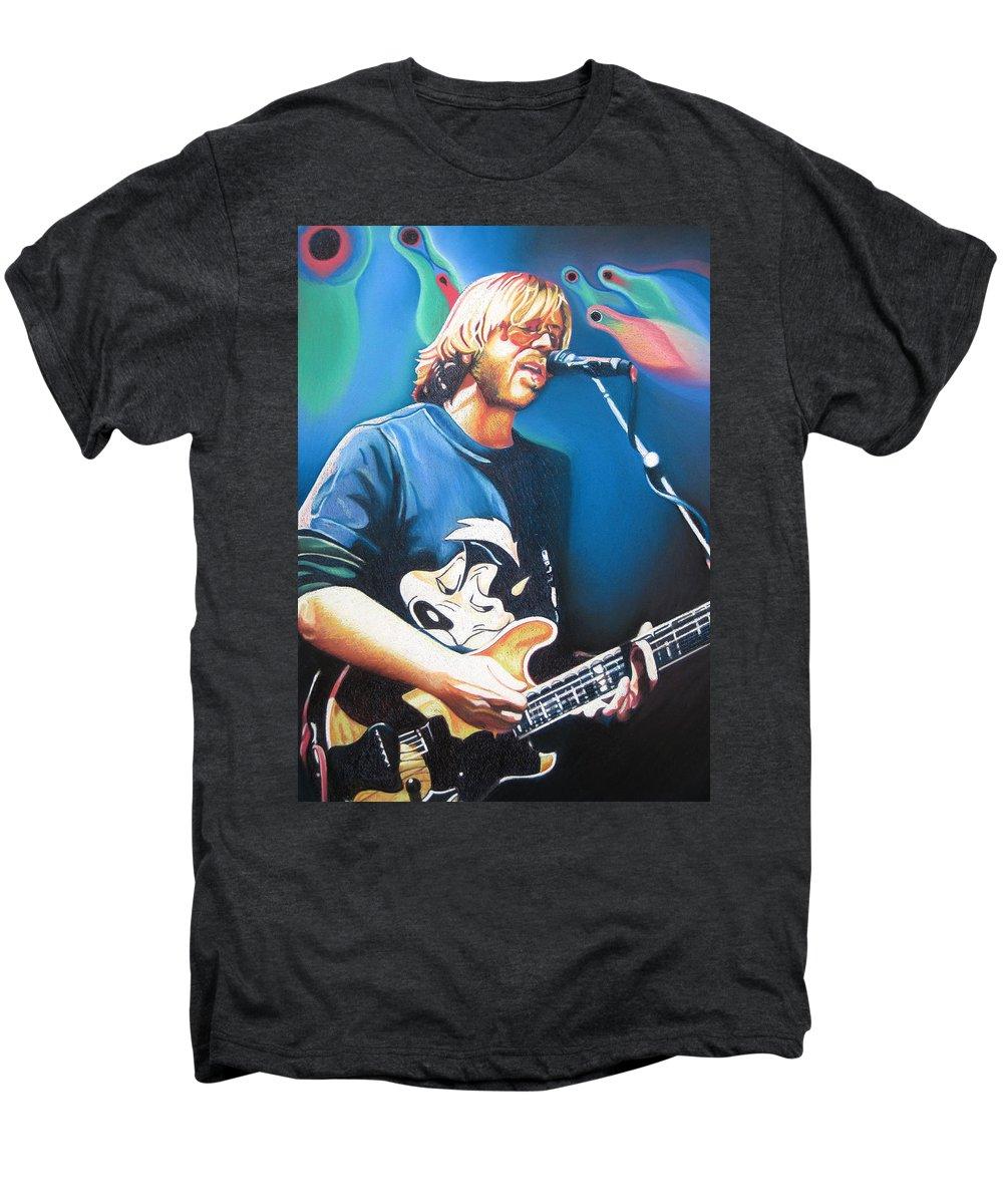 Phish Men's Premium T-Shirt featuring the drawing Trey Anastasio And Lights by Joshua Morton