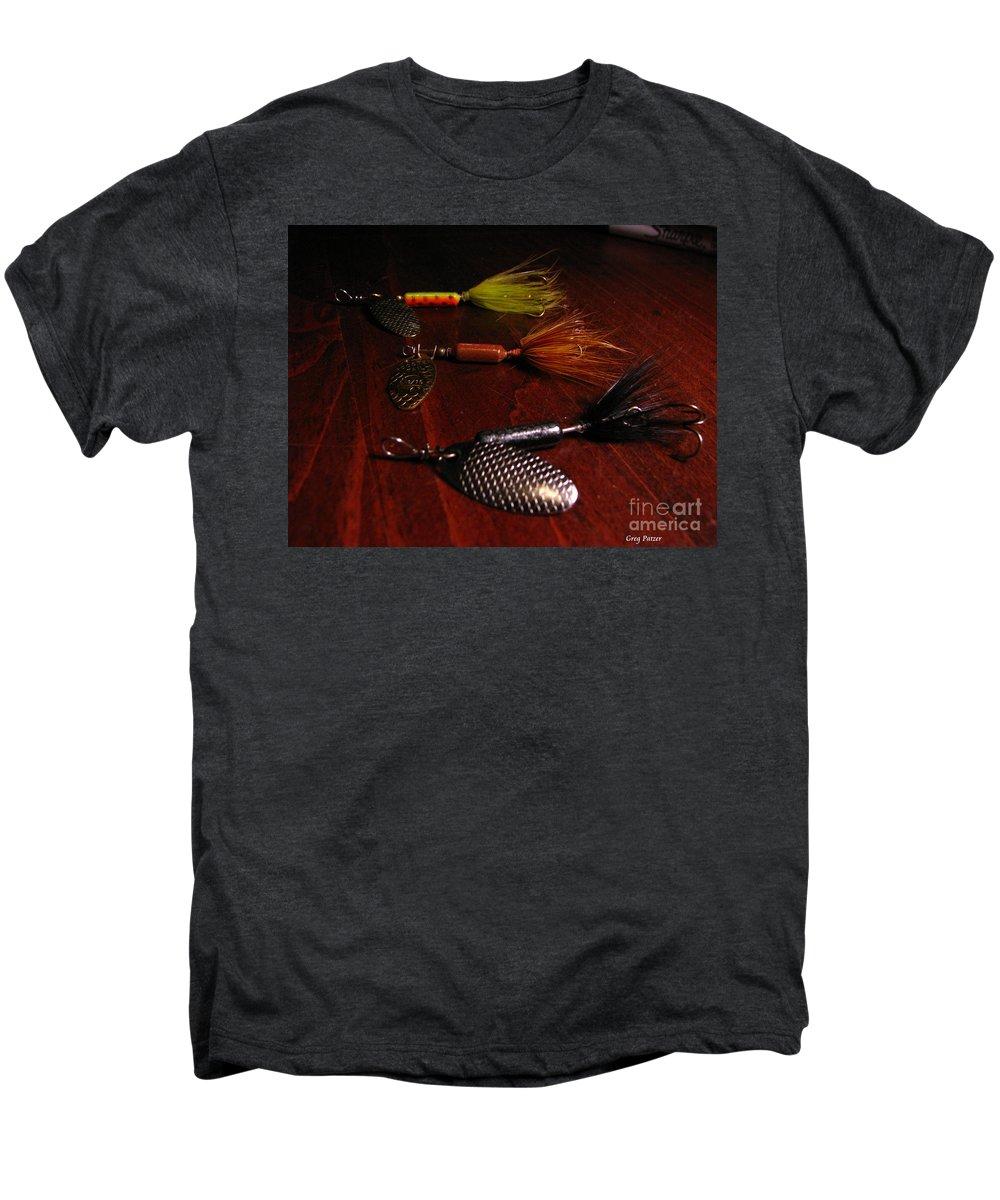 Patzer Men's Premium T-Shirt featuring the photograph Trout Temptation by Greg Patzer
