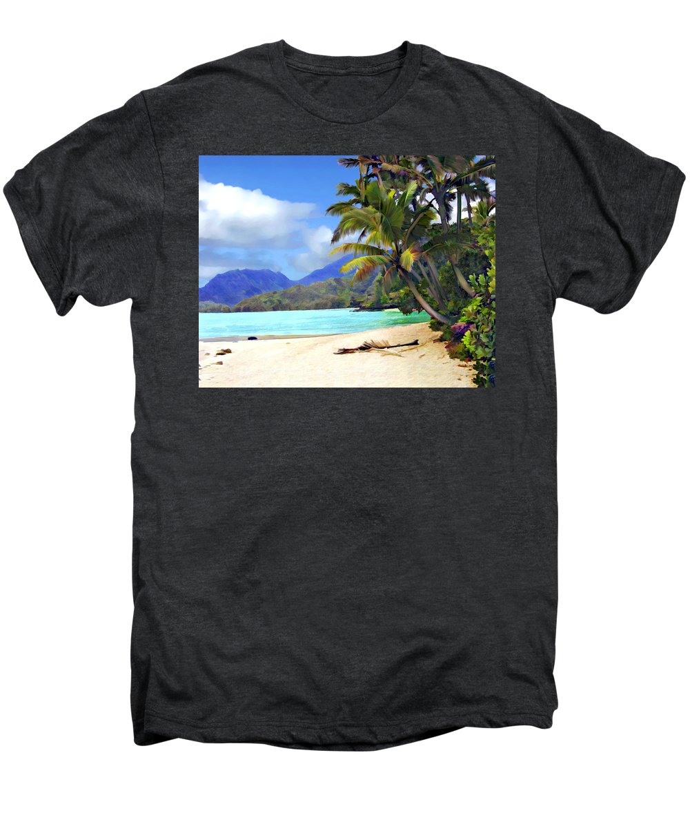 Hawaii Men's Premium T-Shirt featuring the photograph View From Waicocos by Kurt Van Wagner
