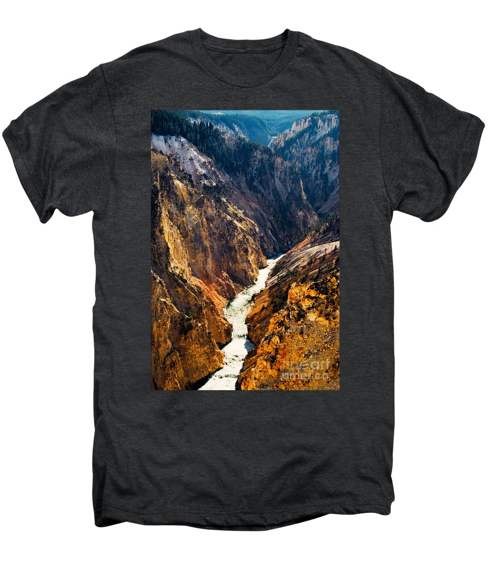 Yellowstone Men's Premium T-Shirt featuring the photograph Yellowstone River by Kathy McClure