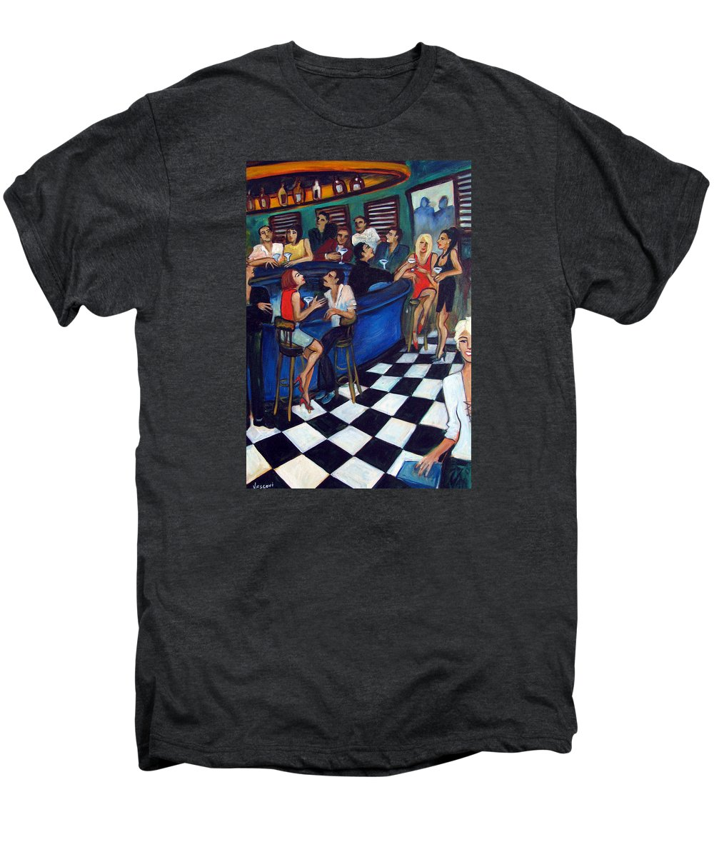 Chicago Style Bar Men's Premium T-Shirt featuring the painting 32 East by Valerie Vescovi