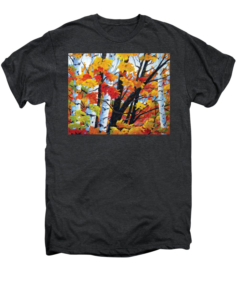 Art Men's Premium T-Shirt featuring the painting A Touch Of Canada by Richard T Pranke