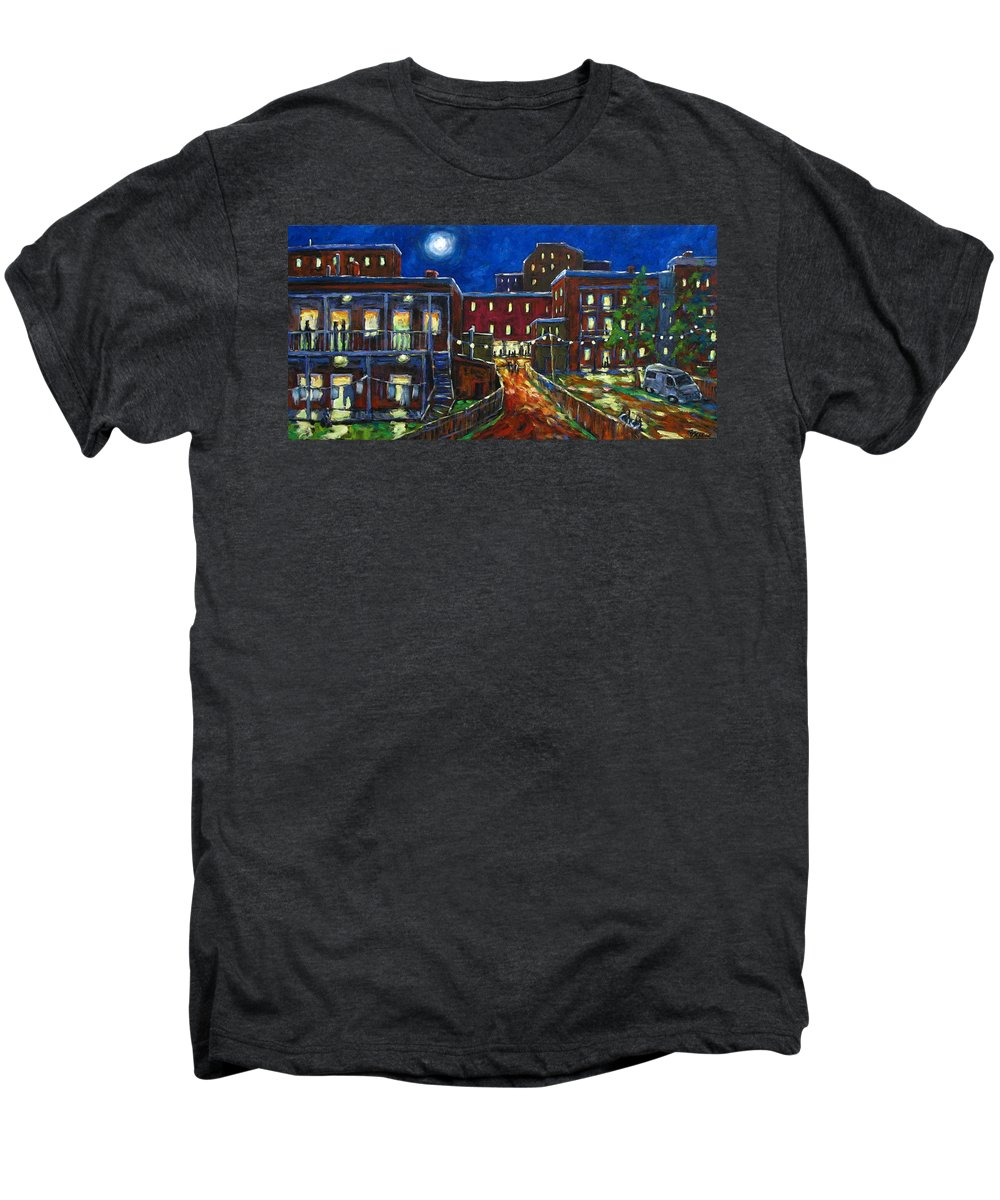 Town Men's Premium T-Shirt featuring the painting Balconville by Richard T Pranke