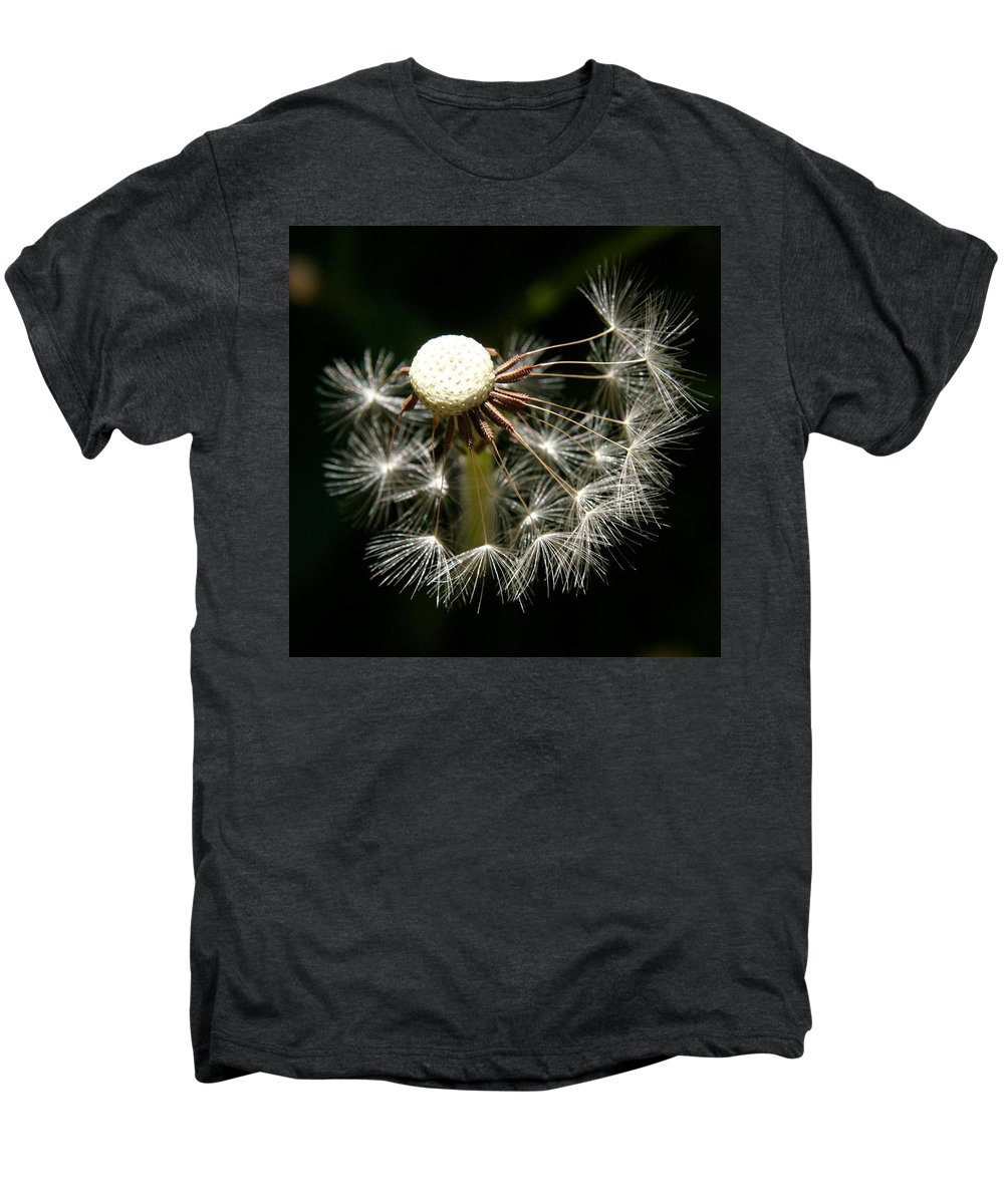 Dandelion Men's Premium T-Shirt featuring the photograph Dandelion by Ralph A Ledergerber-Photography