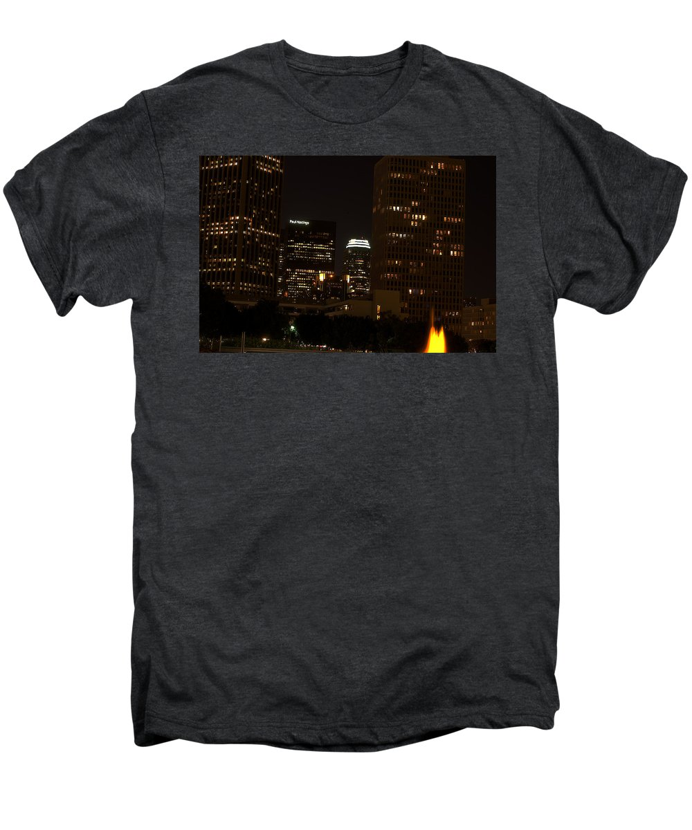Clay Men's Premium T-Shirt featuring the photograph Downtown L.a. In Hdr by Clayton Bruster