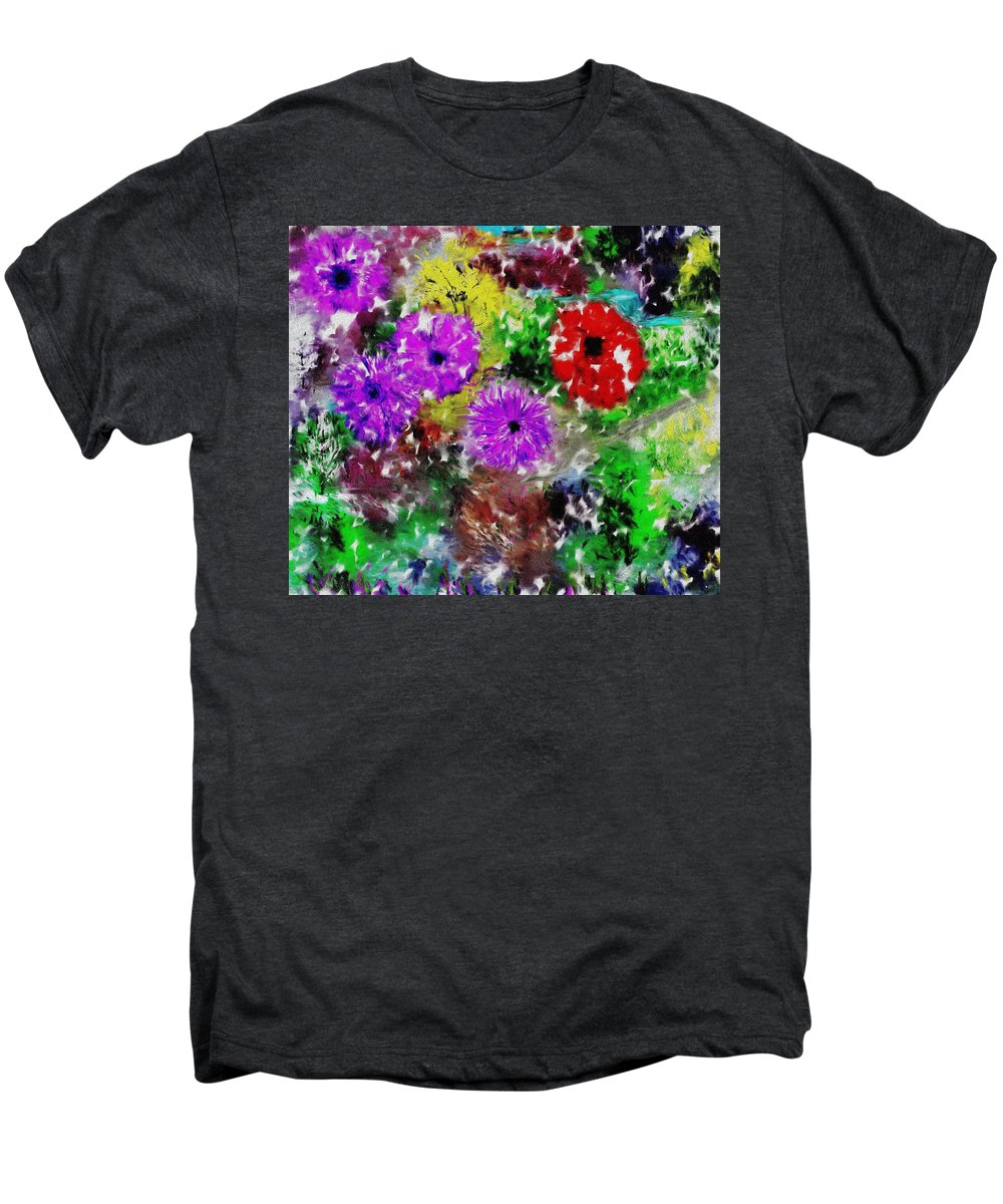 Landscape Men's Premium T-Shirt featuring the digital art Dream Garden II by David Lane