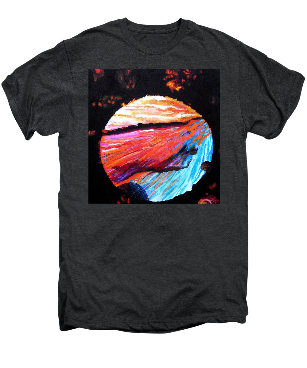 Abstract Men's Premium T-Shirt featuring the painting Inspire Three by Stan Hamilton