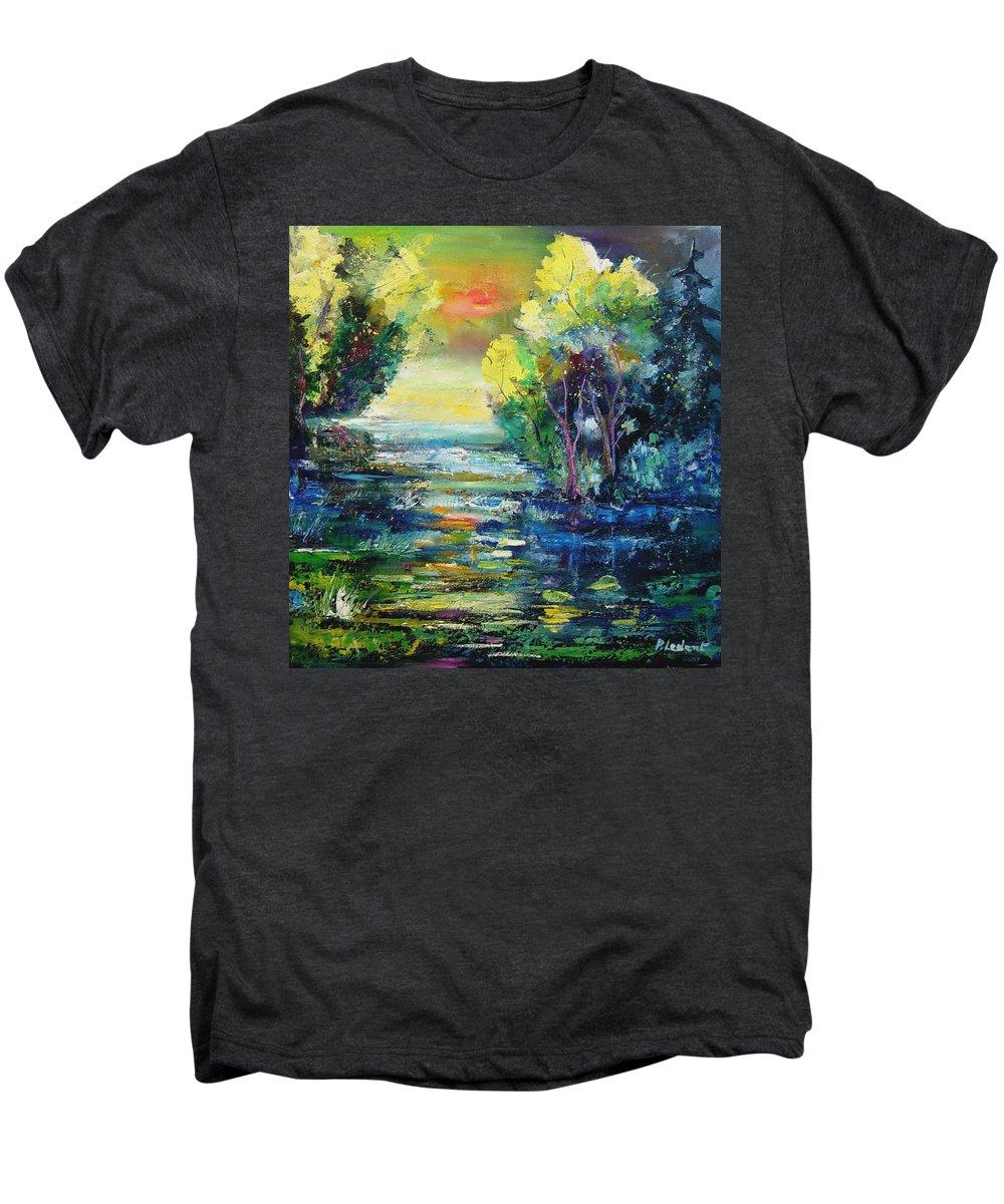 Pond Men's Premium T-Shirt featuring the painting Magic Pond by Pol Ledent