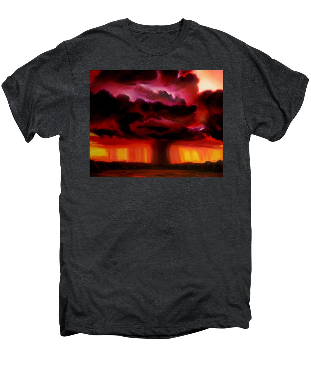 Skyscape Men's Premium T-Shirt featuring the painting Microburst by James Christopher Hill