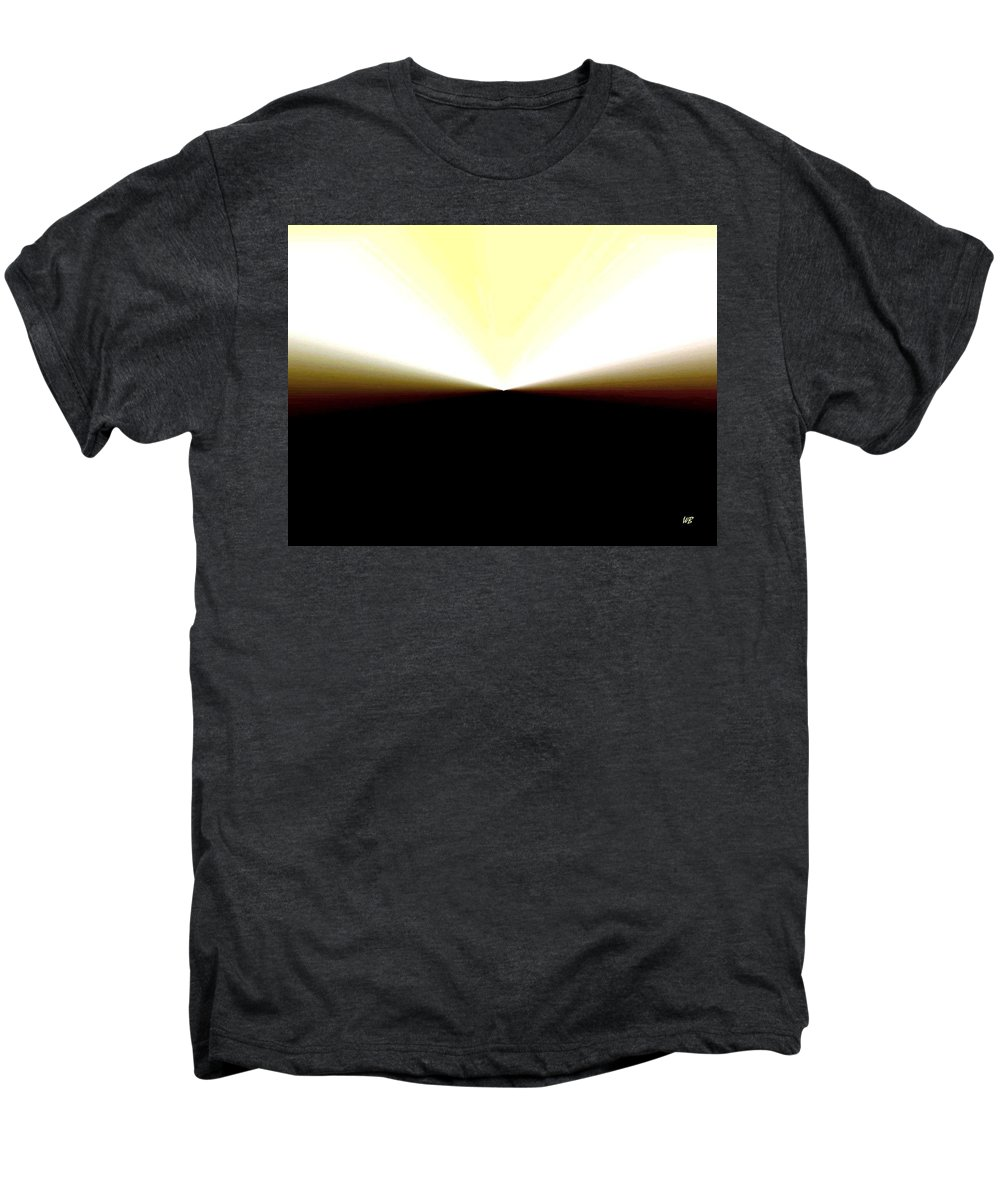 Abstract Men's Premium T-Shirt featuring the digital art Radiation by Will Borden