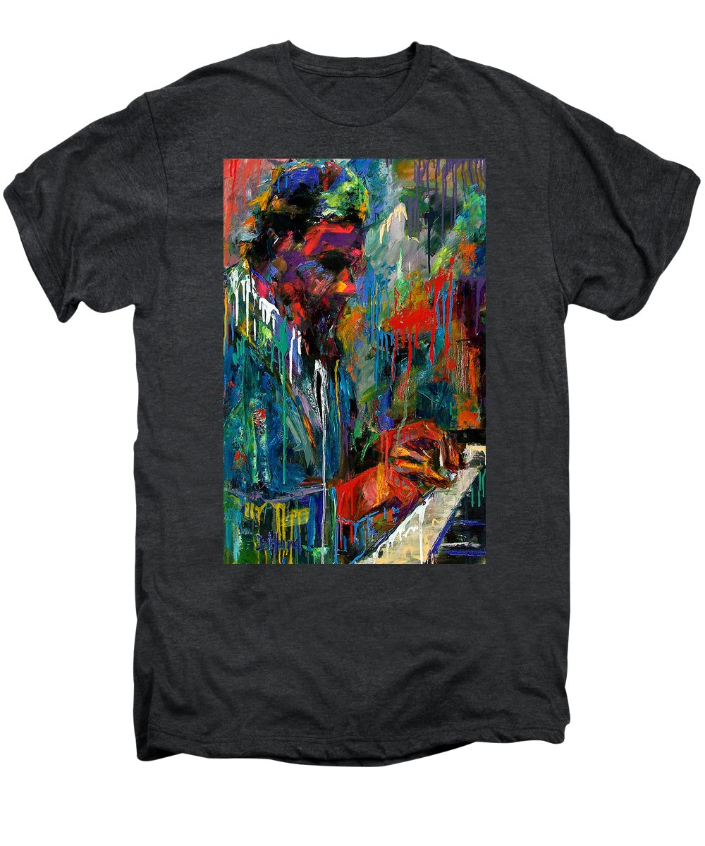 Painting Men's Premium T-Shirt featuring the painting Round Midnight by Debra Hurd